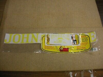 John Deere Model D Unstyled Tractor Decal Set - New Free Shipping