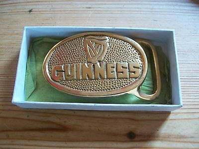 GUINNESS SOLID HAND CRAFTED SOLID BRASS BELT BUCKLE