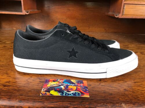 Converse One Star Canvas Ox Mens Skate Shoe BlackWhite 153710C NEW Size 10.5 · $49.97 · Athletic