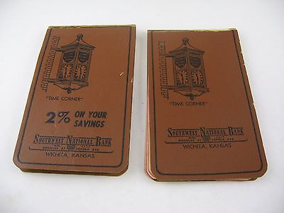 Two Vintage Bank Advertising Pads Southwest National Bank Wichita Kansas