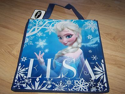Disney Frozen Tote Halloween Gift Bag Party Favor Queen Elsa Blue Snow New  - Elsa Halloween Bag