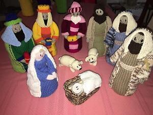 *** Brand New  10Pce Hand Knitted Nativity Set *** East Bunbury Bunbury Area Preview