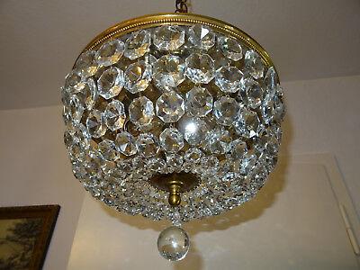 Plafoniere Kristall Groß : Korblüster kronleuchter *kristallglas