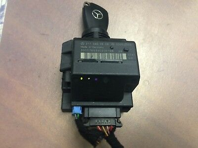 MERCEDES W211 ELECTRONIC IGNITION SWITCH MODULE W/ KEY 2115450608, used for sale  Shipping to Canada