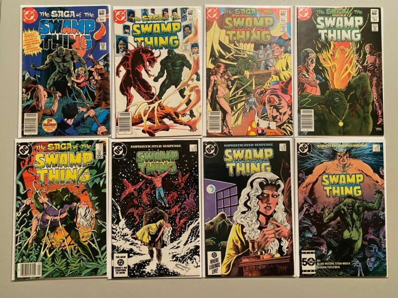 Swamp Thing lot from:#1-115 2nd Series all 47 different books 6.0 FN (1982-1992)