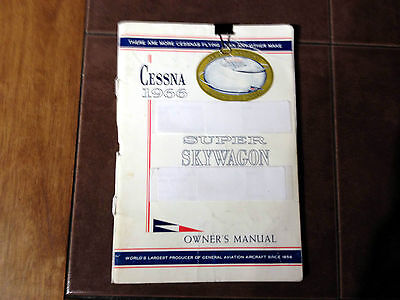 1966 Cessna U206A Super Skywagon Owner's manual