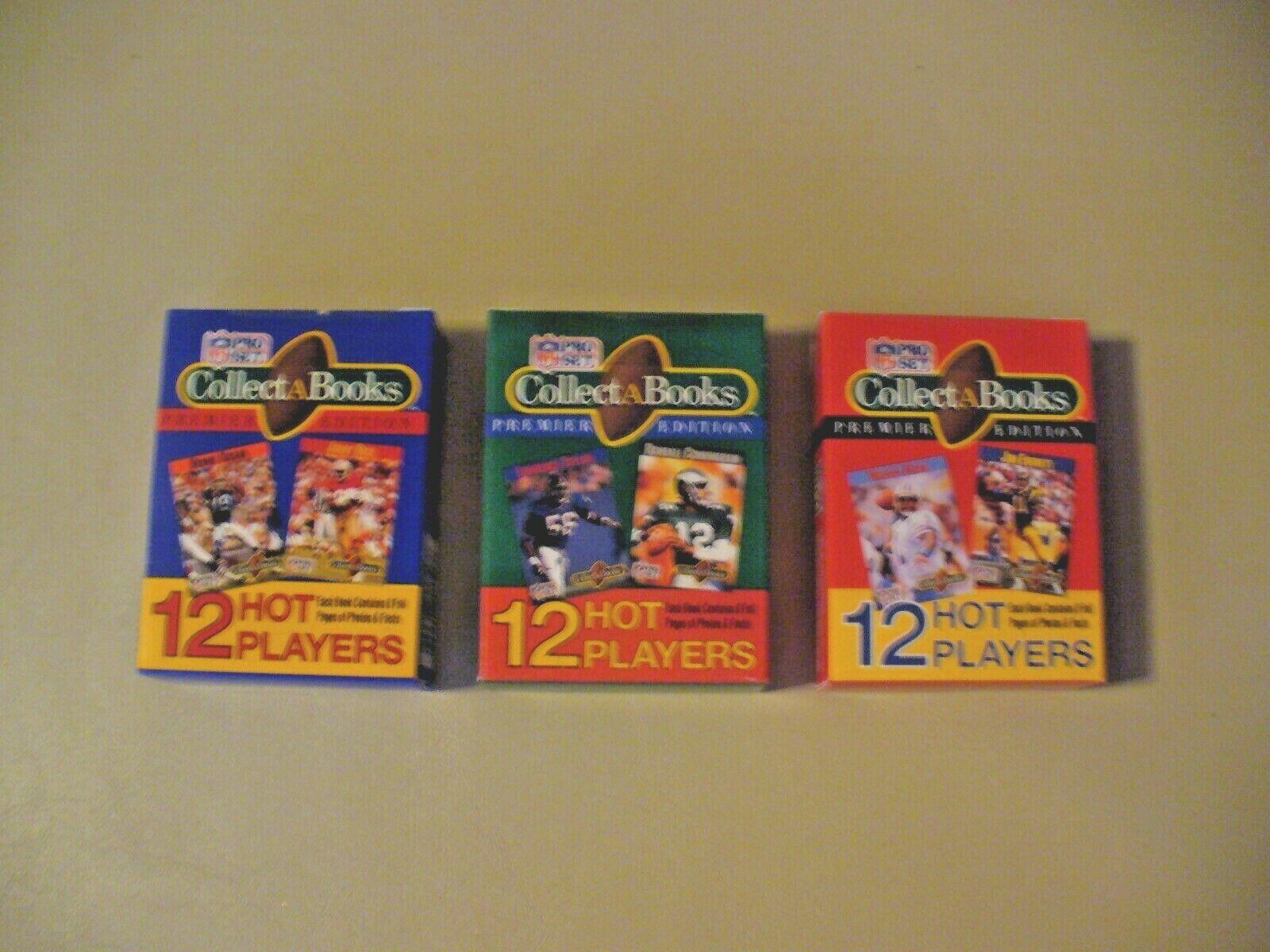 Pro Set - CollectaBooks - Premier Edition - 1990 - NFL - Series I,II,III - VIN. - $4.50