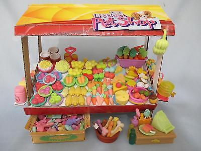 Littlest Pet Shop Lot 10 RANDOM Pcs Food Grocery Store Fruit Shop Accessories!