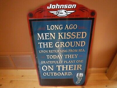 VINTAGE 1990 JOHNSON OUTBOARD MOTOR SIGN (NOT REPRO) Evinrude mercury