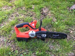Black & Decker mini chainsaw