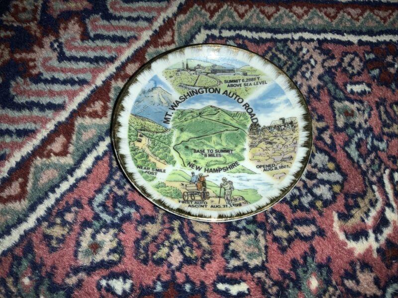 Mt. Washington Auto Road Vintage Souvenir Plate New Hampshire