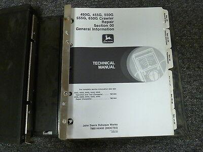 John Deere 450g 455g 550g 555g 650g Crawler Shop Service Repair Manual Tm1404