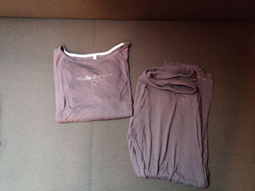 2 Damen Schlafanzüge Gr. 40/Schlafanzug / Pyjama hellgrau und dunkelgrau
