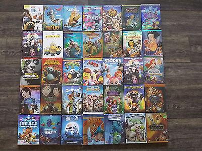 Disney Dvd Lot 4 Movies Moana Trolls Secret Life Of Pets Aladdin Storks Minions