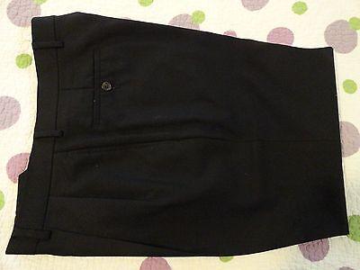 LAUREN Ralph Lauren~Total Comfort Black WOOL Pleated Pants  32-33 x 27  EUC++
