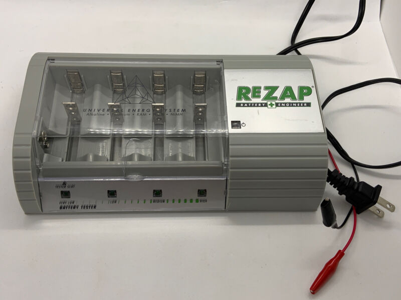 REZAP BATTERY CHARGER ENGINEER RECYCLES REPAIRS HOUSEHOLD SINGLE-USE BATTERIES