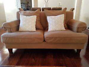 Three (3) & two (2) seater couch sofa - excellent condition