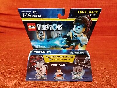 Portal 2 Chell + Sentry Turret + Companion Cube Level Pack Lego Dimensions New !