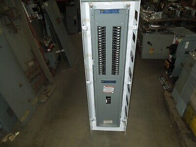 Square D Model 6 Nqod 225a 3p 240v Main Breaker Panel W 42- 15a 1p Breakers