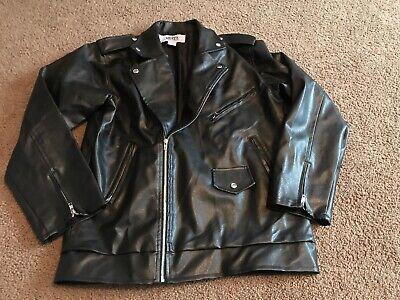 1950s Danny Black Jacket Adult Costume Greaser Rockabilly L (Grease Kostüm Danny)