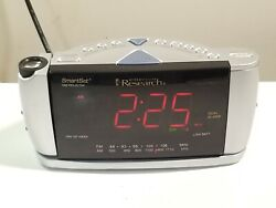Emerson Research CKS3528 Dual Alarm Clock AM/FM Radio Smart Set Time Projector
