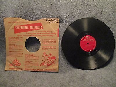 78 Rpm 10  Record Juke Box Serenaders Sound Effects Instrumental Columbia 12327F