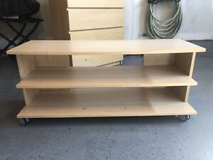 IKEA Malm Family TV Bench with shelf's