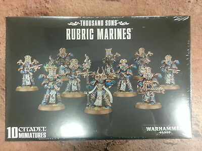 WARHAMMER 40K THOUSAND SONS RUBRIC MARINES - NEW AND SEALED