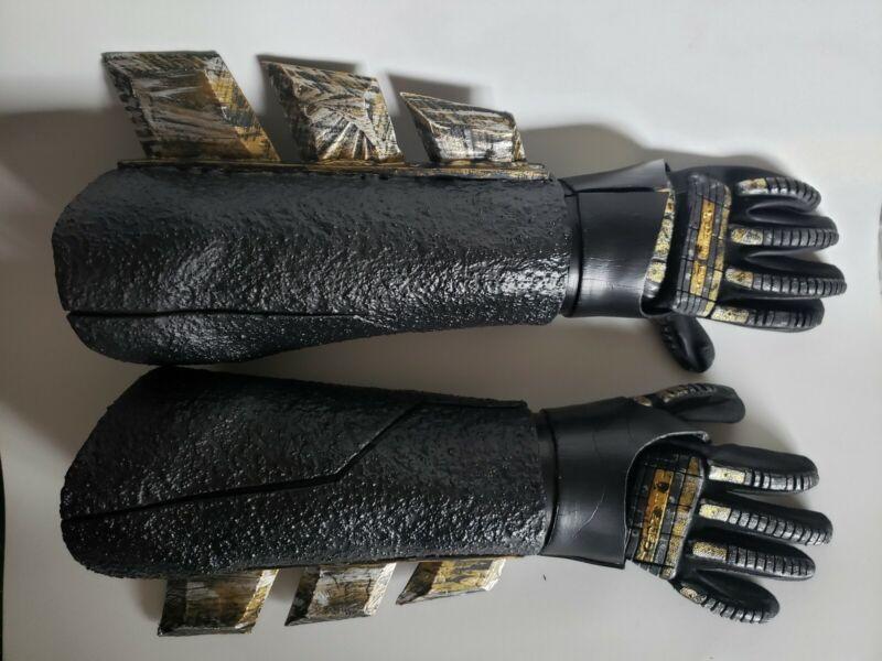 Custom Batman Gauntlets Gloves EVA Foam Handmade DOJ enspired cosplay
