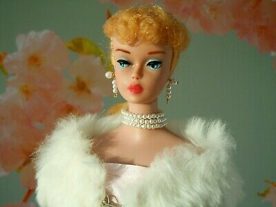 Vintage Mattel Ponytail Barbie in Enchanted Evening, red swimsuit GORGEOUS!!