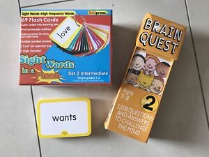 Sight Words Flash Cards and Brain Quest