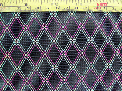 1Yard Amplifier Antique Diamond Grill Cloth Fabric Black & Red/Yellow/Green ()