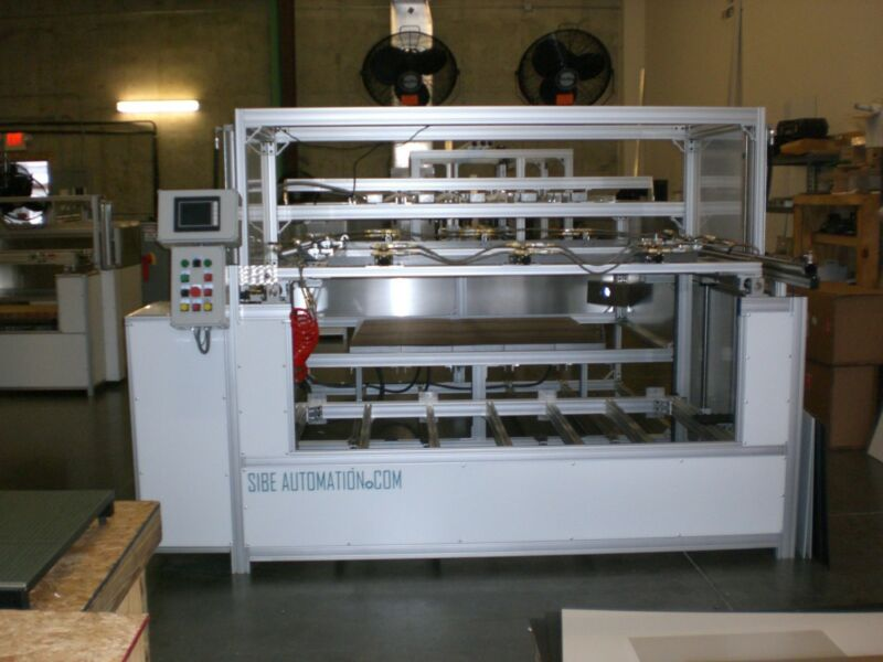 """SIBE AUTOMATION VACUUM FORMER 48"""" X 60"""" DUAL HEATER SINGLE PLATEN THERMOFORMING"""