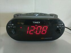 Timex XBBU Redi-Set Dual Alarm Clock Radio AM/FM T715 Battery Backup TESTED