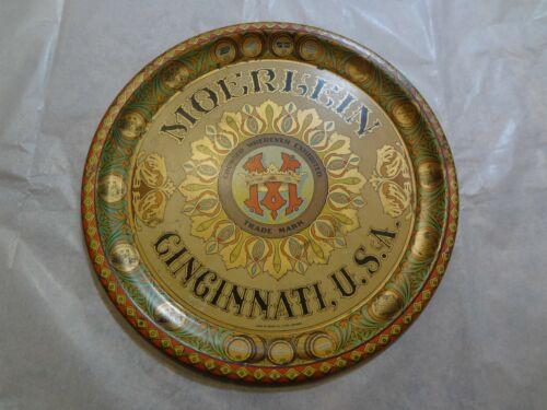 "Moerlein Brewing co.Cincinnati 12"" serving tray by Chas. W. Shonk co. Litho Nice"