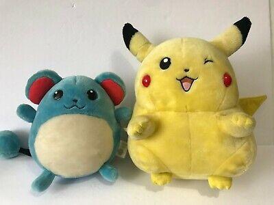 POKEMON Pikachu Marill Talking Animated Plush Bag Toy Vintage Tested It works