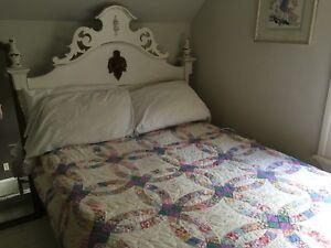 Bed + dresser & mirror + nightstand