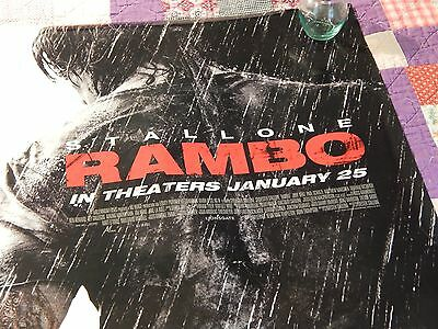 RAMBO(2008) 'Sly' Sylvester Stallone (FILM/CINEMA) Movie Premiere POSTER - Ltd.