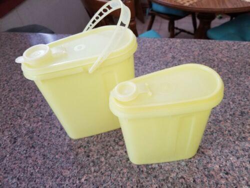 Lot Of 2 Vintage Yellow Slim Tupperware Pitchers - $9.95
