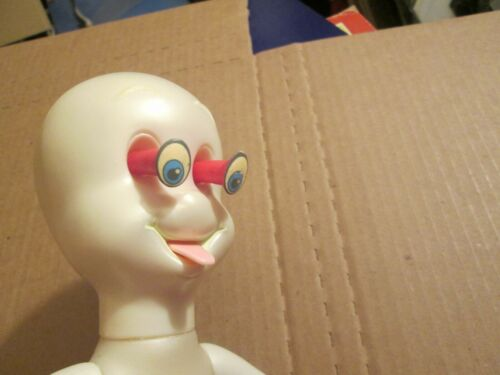 1994 Casper The Ghost Eye &Tongue Popping Action Figure Nite-Glow Eyes Halloween