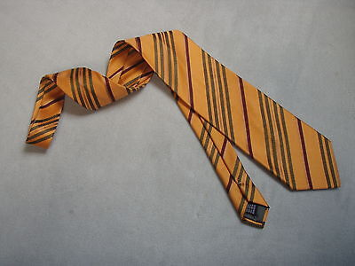 Gianbellusci - Krawatte - Reine Seide - orange gestreift - neu