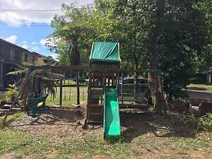 Kids Wooden Playground with Swing, Slide, Monkey Bars and Cubby. Belrose Warringah Area Preview