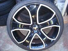 """Set of 20"""" Advanti Black Rims 5 Stud x 120 Pattern Only ! Green Valley Liverpool Area Preview"""