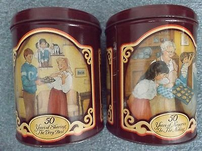 """Lot of 2 Vintage Nestle Toll House Morsels """"50 Years in the Making 1939-1989 Tin"""