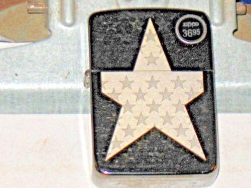 New USA Genuine Zippo Windproof Lighter 29680 Stars 1941 Replica Brushed Chrome