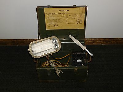Old Construction Equipment 17 X 13 X 10 34 High C Work Lamp Portable Light