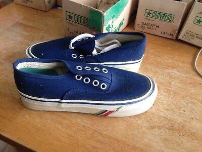 1972 Converse Sailfish and PF Model Youth Navy Canvas Shoes , Boys 13 1/2