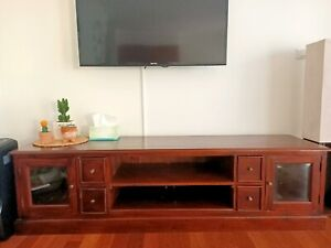 Solid timber tv unit