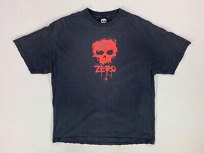 Vintage Zero T Shirt Men's Size XL Black Red Skate Tee 90s Skateboard