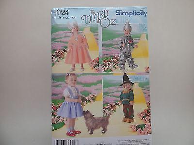 Simplicity 4024 Wizard of Oz, Dorothy Tin Man Glinda Scarecrow Pattern Sz 1/2-4 (Toddler Scarecrow Hat)